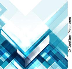 azul, geomã©´ricas, modernos, abstratos, fundo