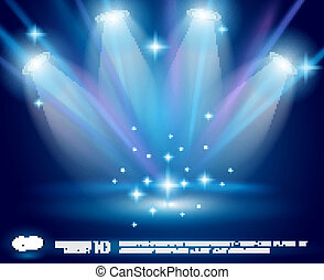 azul, glowing, raios, magia, holofotes, efeito