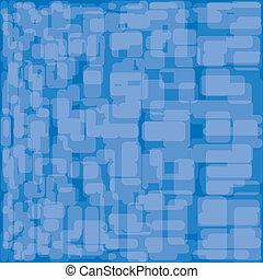 azul, illustration., abstratos, experiência., vetorial, set.
