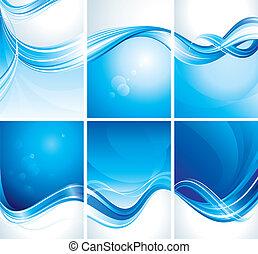 azul, jogo, fundo