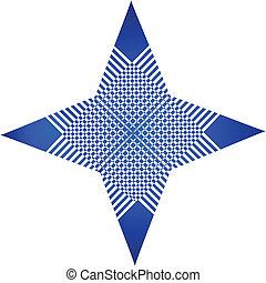 azul, logotipo, abstrat, gráfico, app
