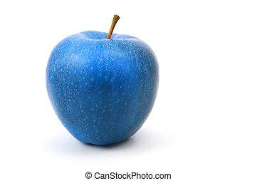 azul, maçã