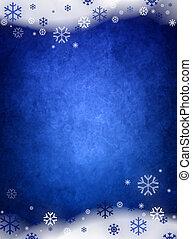 azul, natal, fundo, gelo