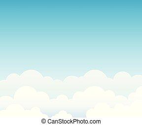 azul, nuvem, céu