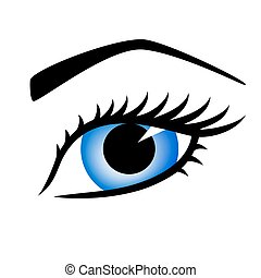 azul, olho mulher, bonito