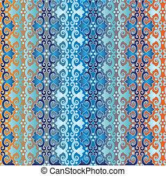 azul, padrão, estilo, seamless, islamic