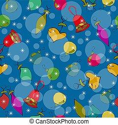 azul, padrão, fundo, brinquedos, repetindo, natal