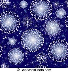 azul, padrão, repetindo, natal