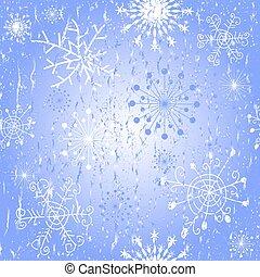 azul, padrão, seamless, natal