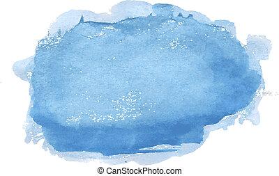 azul, pastel, mancha