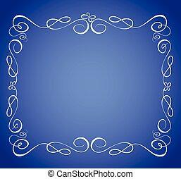 azul, quadro