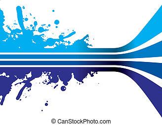 azul, respingo