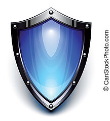azul, segurança, escudo