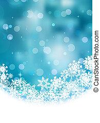 azul, snowflakes., eps, fundo, 8
