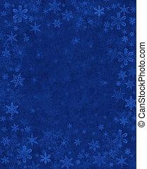azul, sutil, neve