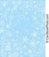 azul, sutil, neve, fundo