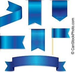 azul, teia, jogo, fitas