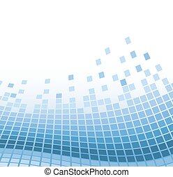 azul, vetorial, abstratos, ilustração, particles., ondulado, fundo, mosaico
