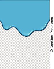 azul, vetorial, illustration., pintura, experiência., respingo, transparência