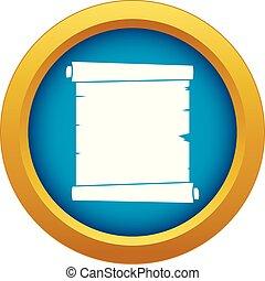 azul, vetorial, isolado, papel, retro, scroll, ícone