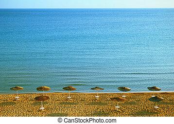 azul, zakynthos, ilha, água, mar, praia, arenoso