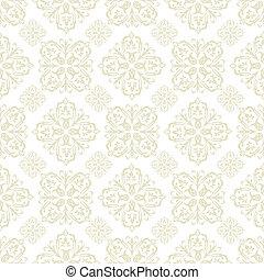 azulejo floral, papel parede, bege
