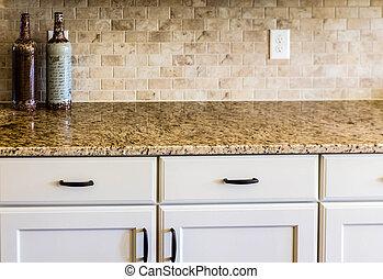 azulejo, granito, backsplash, countertop