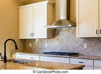 azulejo, granito, cores, morno, cozinha