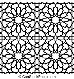 azulejo, islamic, bw, estrela