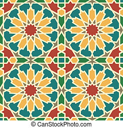 azulejo, islamic, estrela