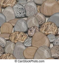 azulejo, seixo, seamless, fundo, pedras