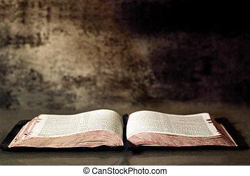 bíblia, abertos