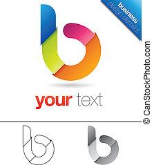 b, desenho, letra, elemento