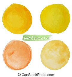bacground., amarela, manchas, vecto, branca, laranja, mancha, watercor, jogo