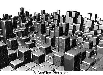 backgr, dinâmico, abstratos, metal, bloco
