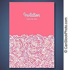 backgroun, padrão, abstratos, convite, modelo, casório, cartão