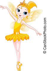 bailarinas, (rainbow, bailarina, series)., amarela, cores