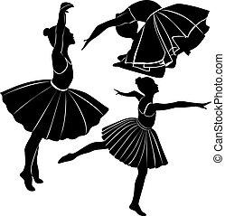 bailarino balé, menina
