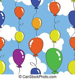 balão, seamless, padrão