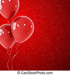 balões, experiência vermelha