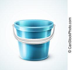 balde, plástico