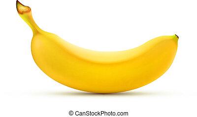 banana, amarela