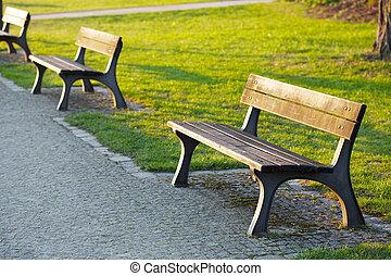 banco, parque, madeira