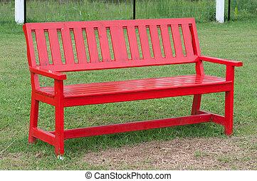 banco, parque, madeira, só