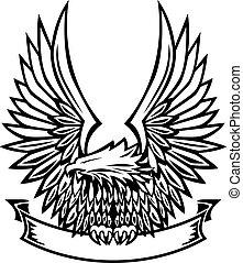 bandeira, águia, emblema