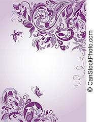 bandeira floral, violeta