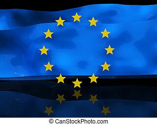 bandeira, fundo, europeu