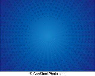 bandeira, ilustração, experiência., azul, vindima, arte pnf, vetorial