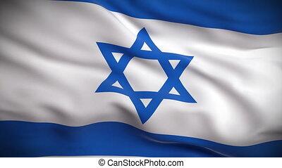 bandeira, israelita, looped., hd.