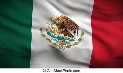 bandeira, looped., hd., mexicano